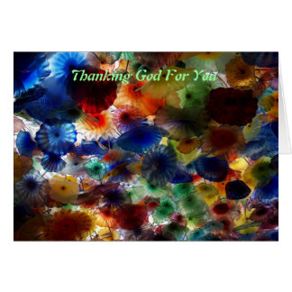 あなたのために神を感謝していしていること カード