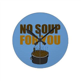 あなたのためのスープ無し ラウンド壁時計
