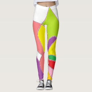 あなたのための幸せな足の鮮やかでユニークなデザイン女性 レギンス