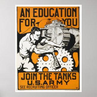 あなたのための教育は~タンクを結合します ポスター
