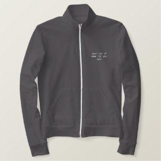 あなたのための衣服からのスポーツ心配 刺繍入りジャケット