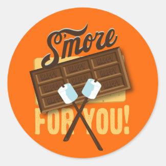 あなたのためのS'moreキャンプファイヤー及び篝火の好意 ラウンドシール