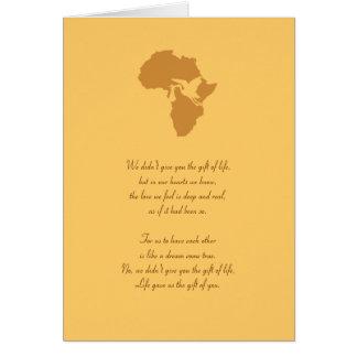 あなたのアフリカの採用のギフトカスタマイズ可能な詩-! カード