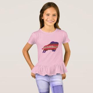 あなたのエディーにバイソンの女の子のひだのTシャツを得て下さい Tシャツ