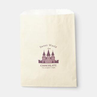 あなたのカスタムなベージュ色の好意のバッグ城 フェイバーバッグ