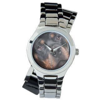 あなたのカスタムな銀製のラップアラウンドのロットワイラー 腕時計