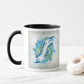 あなたのカスタム11のozのコンボのマグか(占星術の)十二宮図魚類 マグカップ