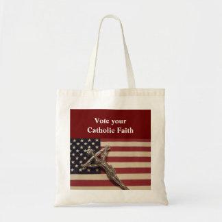 あなたのカトリック教の信頼のバッグを投票して下さい トートバッグ
