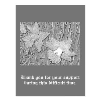 あなたのサポートへの鉛筆のラッパスイセンの感謝 ポストカード