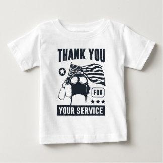 あなたのサービスをありがとう ベビーTシャツ