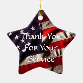 あなたのサービスをありがとう-神は私達の軍隊を賛美します セラミックオーナメント