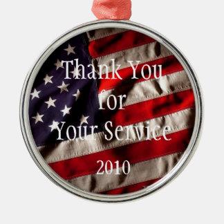 あなたのサービスを-米国旗ありがとう メタルオーナメント