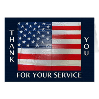 あなたのサービス米国旗をありがとう カード