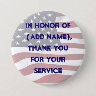 あなたのサービス軍隊ボタンを記念して 缶バッジ