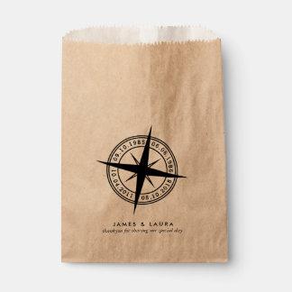 あなたのスペシャルの日付の結婚式の引き出物のバッグによって一周して下さい フェイバーバッグ