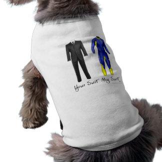 あなたのスーツ私のスーツ犬のティー ペット服