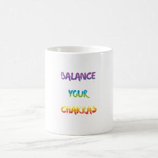 あなたのチャクラのマグのバランスをとって下さい コーヒーマグカップ