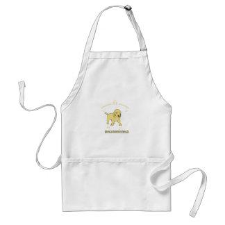 あなたのヌードルを使用して下さい、Goldendoodleを愛して下さい スタンダードエプロン