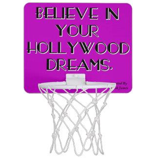 あなたのハリウッドの夢のバスケットボールたがで信じて下さい ミニバスケットボールネット