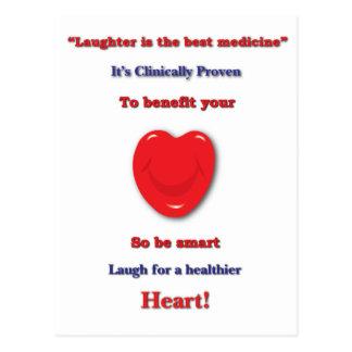 あなたのハートに寄与すると臨床的に証明される笑い声 ポストカード