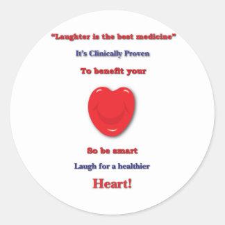 あなたのハートに寄与すると臨床的に証明される笑い声 ラウンドシール