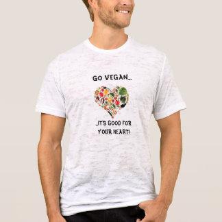あなたのハートのためによいビーガン。.itsは行きます tシャツ