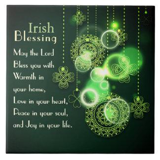 あなたのハートのアイルランドの天恵愛、シャムロックのデザイン タイル