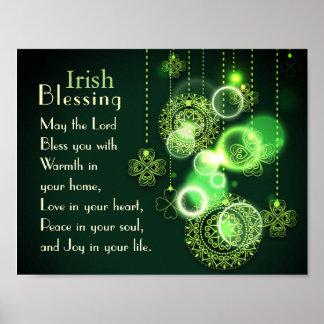 あなたのハートのアイルランドの天恵愛、シャムロックのデザイン ポスター