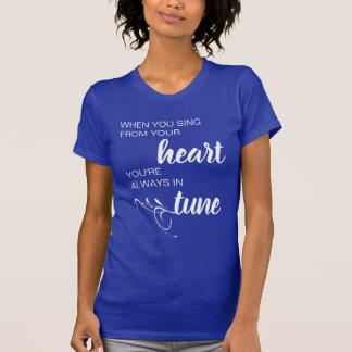 あなたのハートのティーから歌う時 Tシャツ