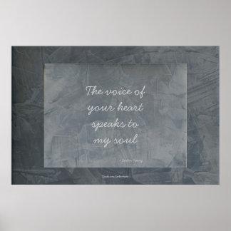 あなたのハートの声は私の精神-ポスターに伝えます ポスター
