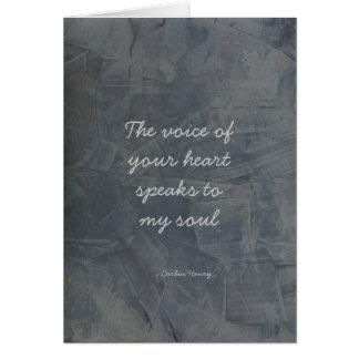 あなたのハートの声-石板プラスター カード
