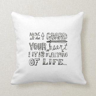 あなたのハートの枕を守って下さい クッション