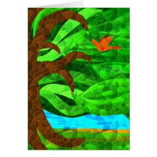 あなたのハートカードの緑の木を保って下さい カード