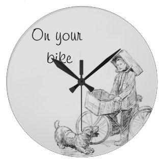 あなたのバイク ラージ壁時計