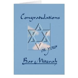 あなたのバー(ユダヤ教の)バル・ミツバーのお祝い! -青 カード
