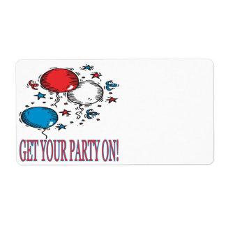あなたのパーティーを得て下さい ラベル