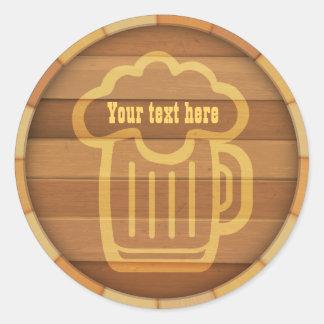 あなたのビールをカスタマイズ ラウンドシール