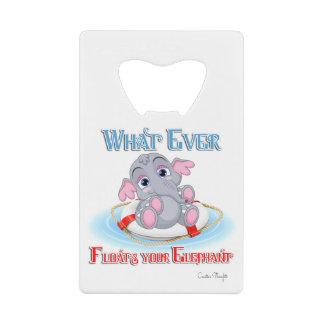 あなたのベビー象を浮かべるものは何でも ウォレット ボトルオープナー