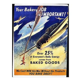 あなたのベーカリーの仕事は重要な、焼いた食品です チラシ