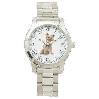 あなたのペットの写真かわいい犬のポートレートを加えて下さい 腕時計