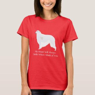 あなたのボルゾイの考えることデザイン Tシャツ
