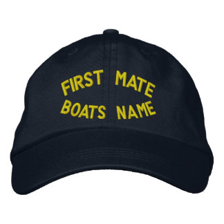 あなたのボートの名前の一等航海士 刺繍入りキャップ