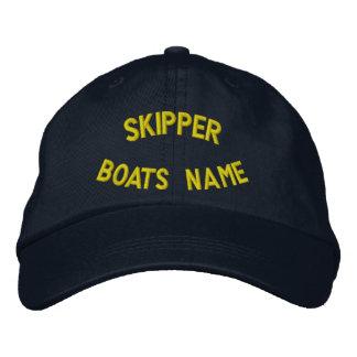 あなたのボートの名前のPersonalzedの飛ぶ人 刺繍入りキャップ