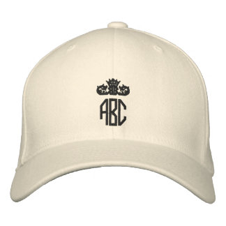 あなたのモノグラムによって刺繍される帽子を加えて下さい 刺繍入りキャップ