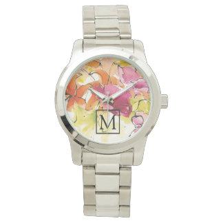 あなたのモノグラム| Pattysのプラムを加えて下さい 腕時計