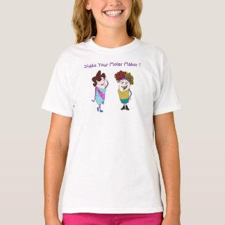 """""""あなたのモルメーカー""""の女の子のTシャツ揺すって下さい Tシャツ"""