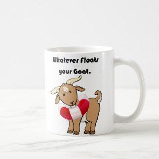 あなたのヤギの救命具の漫画を浮かべるものは何でも コーヒーマグカップ