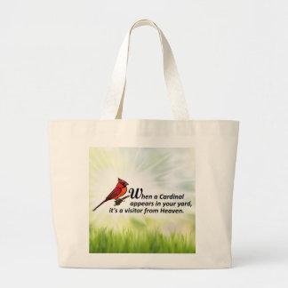 あなたのヤードの(鳥)ショウジョウコウカンチョウ ラージトートバッグ