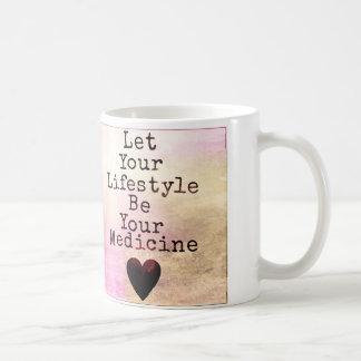 あなたのライフスタイルがあなたの薬のマグがあるようにして下さい コーヒーマグカップ