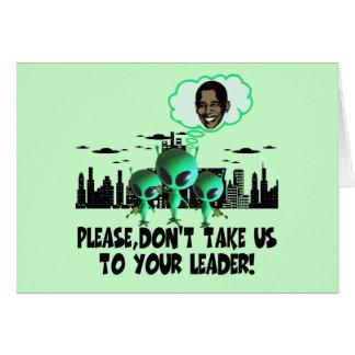 あなたのリーダーのからかいのアンチオバマに私達を連れて行って下さい カード